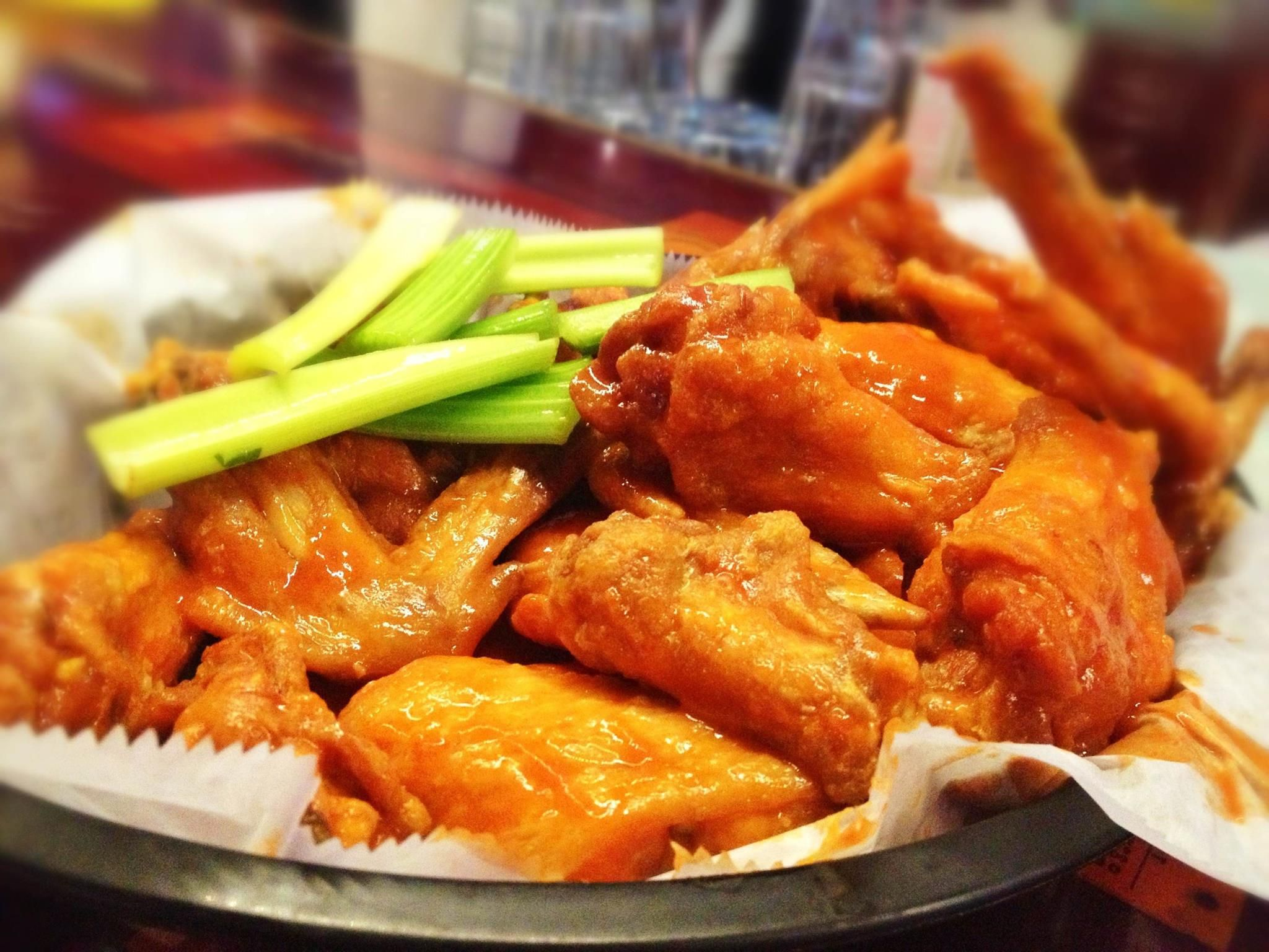 A basket of wings from Barrel Junction in Gibsonia, PA
